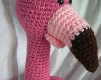Frida the Flamingo - Amigurumi Crochet Plush PATTERN ONLY (PDF)