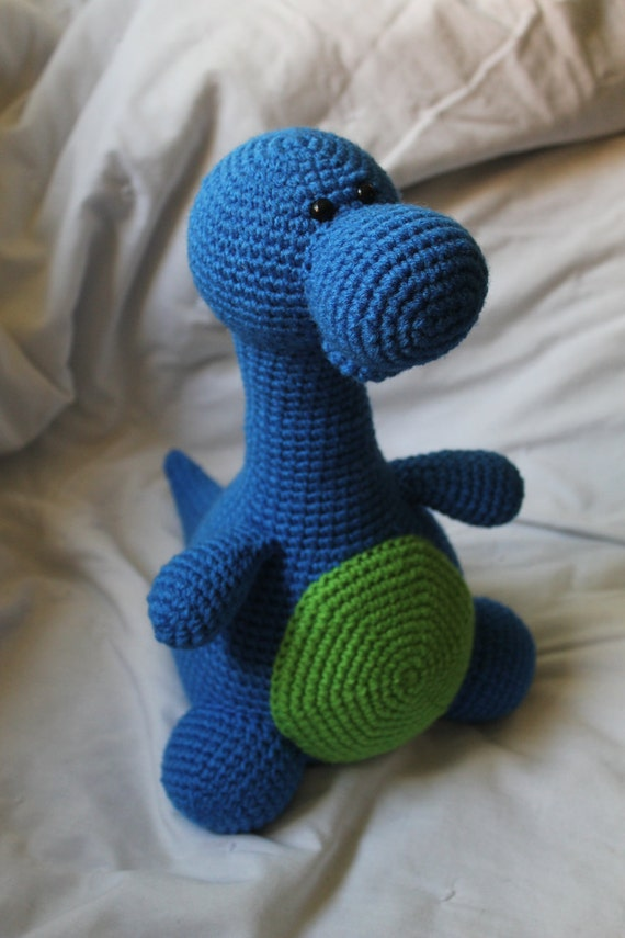 Bruno the Brontosaurus - Amigurumi Plush Crochet PATTERN ONLY (PDF)
