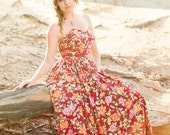 Strapless Floral Dress - SALE 50% OFF - Prom