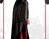 """Dracula - Christopher Lee - 17 x 11"""" Digital Print as seen on True Blood"""