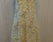 Custom Made Lovely Hand-Embroidered Ivory Lace Dress