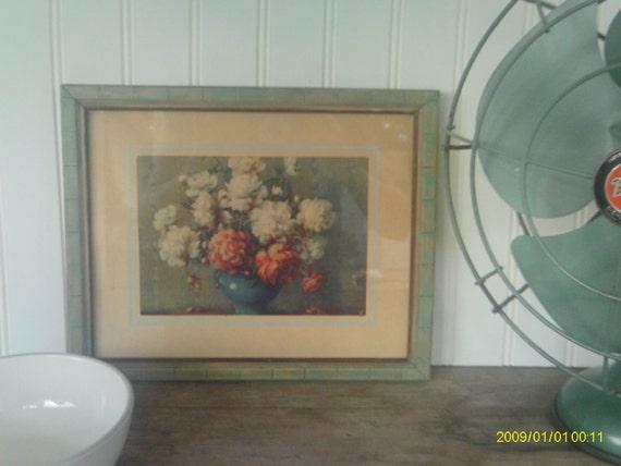 Vintage Framed Print / Floral Print