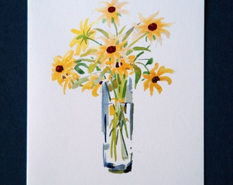 Coreopsis - A set of 5 blank cards