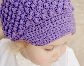 Nubby Newsboy hat crochet by LettiLu