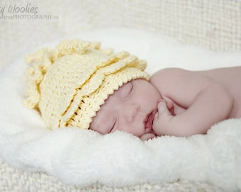 Crochet Hat Pattern: 'Wiggle Giggle' For Girls & Boys, Baby Beanie, Newborn Photo Prop
