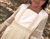 "RESERVED FOR SAMANTHA, custom ""Rhiannon"" Bohemian Hippie Lace Flower girl dress"