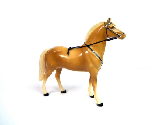1950's Hartland Roy Rogers toy horse, Trigger, palomino, good condition, free u.s. shipping