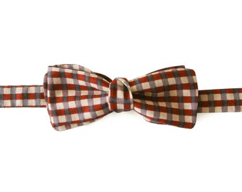Marker pen drawing bow tie, gray lilic burgundy plaid bowtie, valentine's