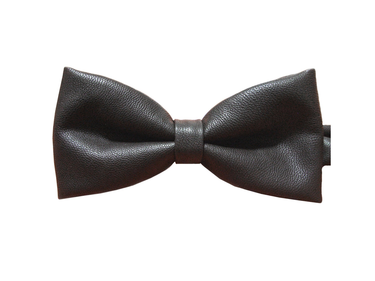 faux leather bow tie bowtie black s