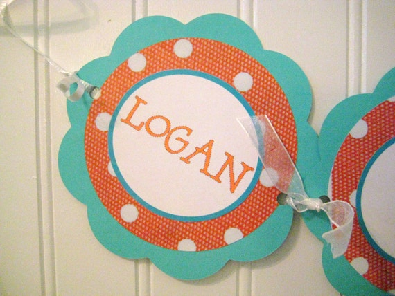 Baby's First Birthday Banner for Highchair - Three Links