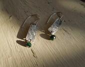 "ARTisan Made ""Emerald Isle"" Earrings - Sterling Silver - OOAK"