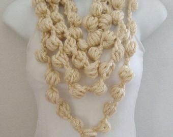 Crochet Bubble Lariat Pattern  Instant Download