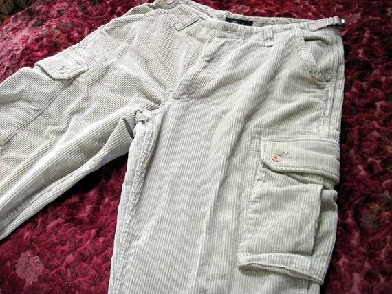 Men's Cool Corduroy Multi Pouched Pants in Light-Beige/off White, Size 46 (European)