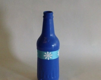 Small Blue and Teal Bottle Vase