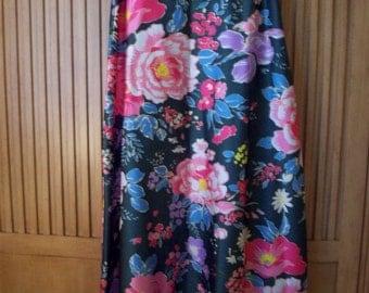 Long  Flower Print Skirt by Malbe