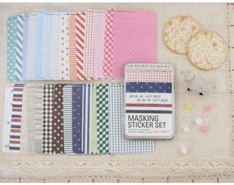 Masking Sticker Set - ver. fabric (Tin Case)