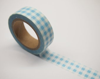 Washi Tape - blue check