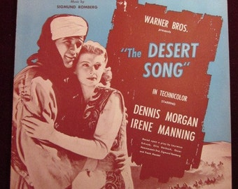 "Vintage 1926 ""The Desrt Song"" Sheet Music"