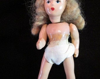 Vintage Miniature Play Doll - Maker Unknown