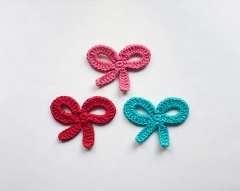 Instant Download - PDF Crochet Pattern - Bow Applique (Quick and Easy) - Text instructions and SYMBOL CHART instructions