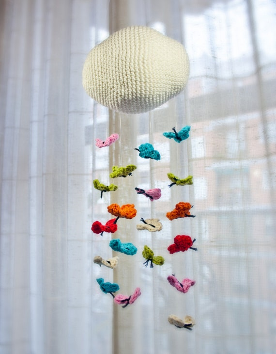 Instant Download - PDF Crochet Pattern PHOTOTUTORIAL & Mobile Tutorial - Butterfly Mobile - Permission to Sell Finished Items