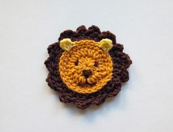 Lion Applique - PDF Crochet Pattern - Instant Download - Embellishment ...