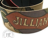 Leather Suede Custom Guitar Strap - Personalized