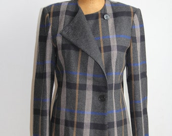 Plaid Coat - L