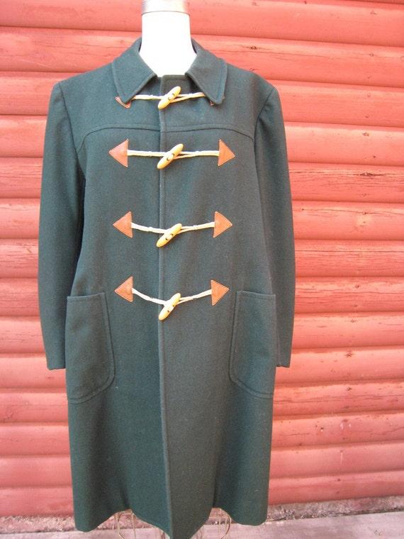 Vintage Hunter Green Jaeger Wool Jacket Made in Italy