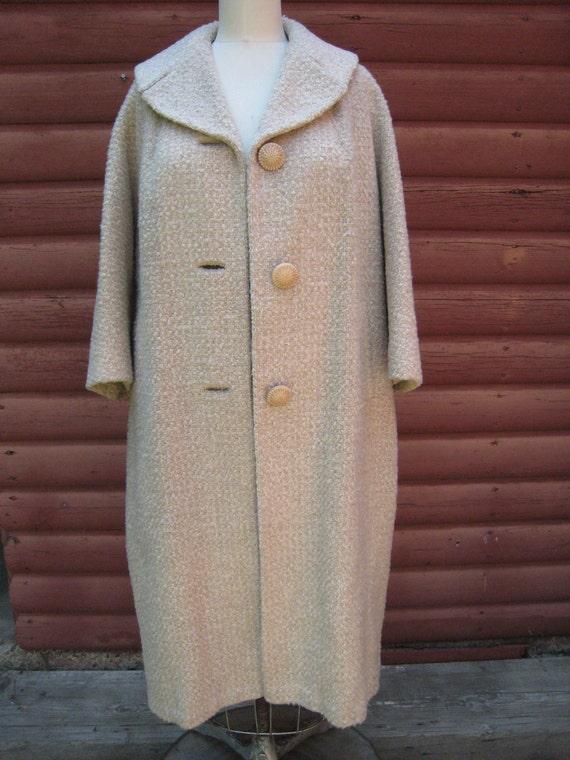 Vintage 1950s Wool Coat from Fleurette of California