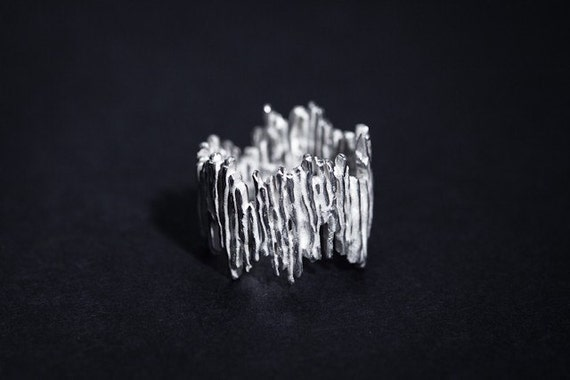 Fairmined Contemporary Silver Ring,Special Design,Fair trade,Sustainble Jewellery,Ecological Silver Made in Barcelona by Emilie Bliguet