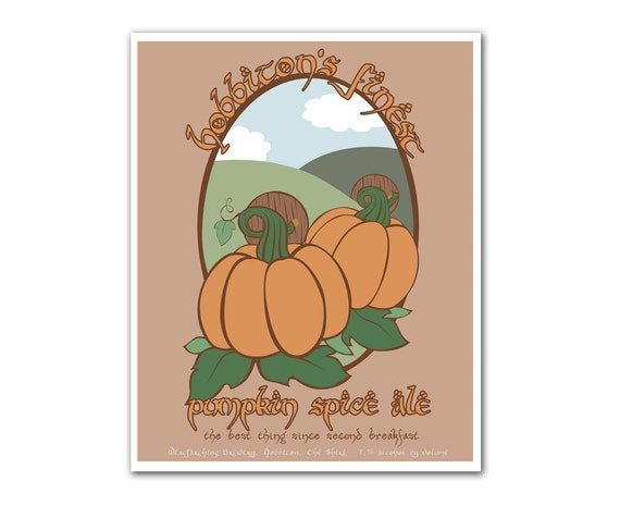 Middle Earth Microbrews: Hobbiton's Finest Pumpkin Spice Ale - 8x10 print