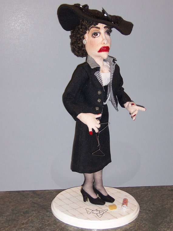 "RESERVED for David- Joan Crawford as ""Mommie Dearest"" - featured in Art Doll Quarterly cloth doll"