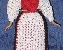 Fashion Doll Norwegian Bunad - Includes Doll, Costume, Stand - Norwegian National Costume - Item 3044