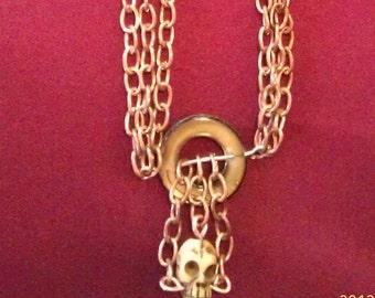 Copper Chain Pirate Necklace