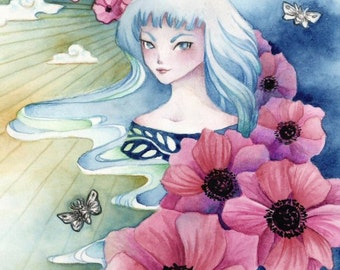 "Fantasy ArtPrint ""My Comfort"", 5 x 7 or 8 x 12"