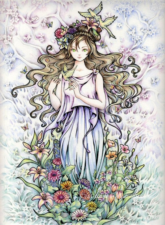 Fantasy Art 5x7 Print Goddess Of Spring Persephone