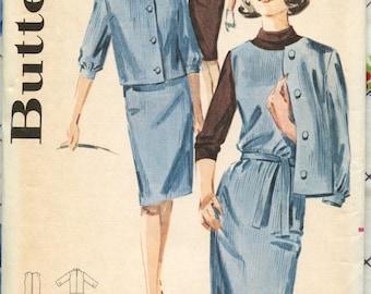 1960s Butterick 2851 Misses Jumper, Jacket and Blouse Pattern Vintage Sewing Pattern Bust 34 UNCUT