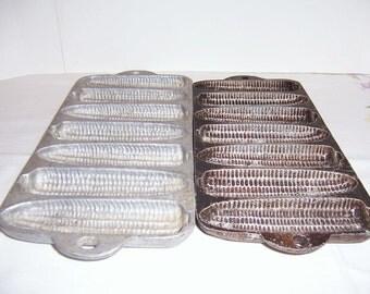Corn Bread Corn Cob Cast Iron Baking Tray 1950's-60's
