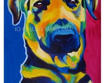 German Shepherd, Pet Portrait, DawgArt, Dog Art, Pet Portrait Artist, Colorful Pet Portrait, German Shepherd Art, Art Prints, GSD, Art, Dog