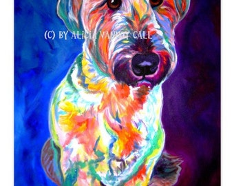 Briard, Pet Portrait, DawgArt, Dog Art, Pet Portrait Artist, Colorful Pet Portrait, Briard Art, Pet Portrait Painting, Art Prints