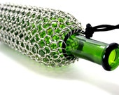 Wine Bottle Bag, Cozy, Cover, Tote Or Wrap Chainmaille