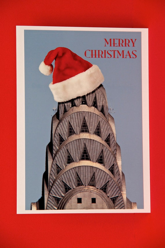 CHRISTMAS Card - Chrysler Building - New York City -  4X6 (Cards can be personalized)