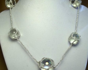 Silver Ramune Marble Necklace