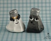 Salt and Pepper Wedding Cake Topper Character Shakers