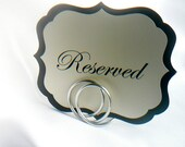 Silver Wedding Table Number Holders, 9 pcs