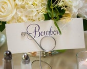 Silver Table Sign Holders, Wedding Decor, 5 pcs