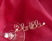 Bridal Shower Decorations, Bride Wine Glass Charm, Bridesmaid To Bride Gift