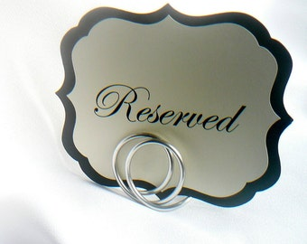 Silver Wedding Table Number Holders, 6pcs
