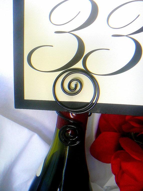 Black Wine Bottle Sign Holder, Bridal Shower, Bachelorette Parties, 2pcs
